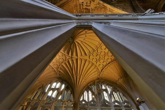 Tewkesbury Abbey: Fan vaulting in the Founders Chantry
