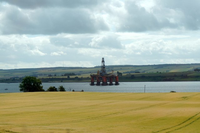 View over fields to the Cromarty Firth from near Alness