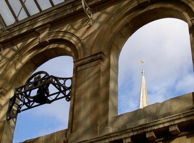 St Nicholas Market and St Nicholas church spire