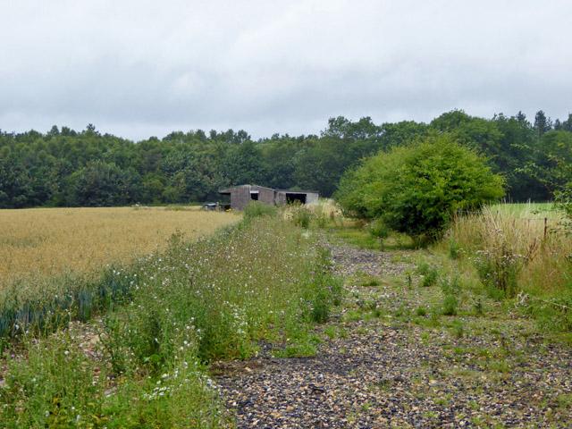 Disused farm buildings off Cherry Lane