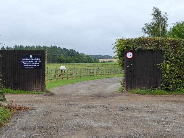 Entrance, Shardeloes Farm Equestrian Centre