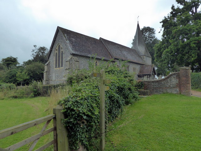Footpath Junction near St Mary the Virgin Church,  Barcombe