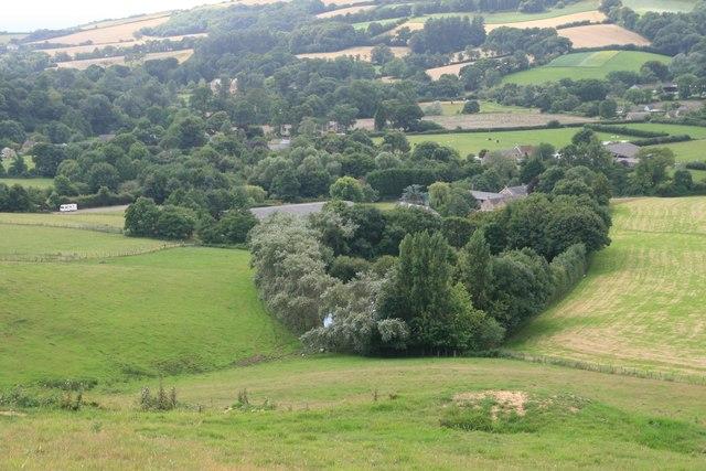 Looking towards Brighthay Farm from Henwood Hill