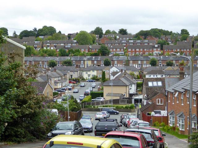 Hillside houses, Chesham