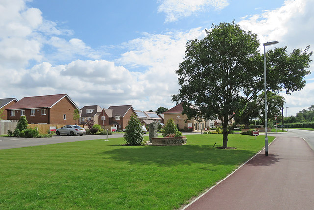 The Church Road end of the Hauxton Meadows estate