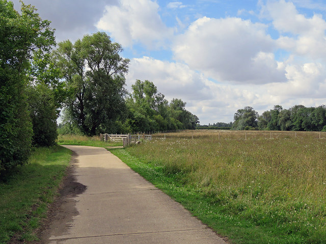 Cycling to Hauxton in late July