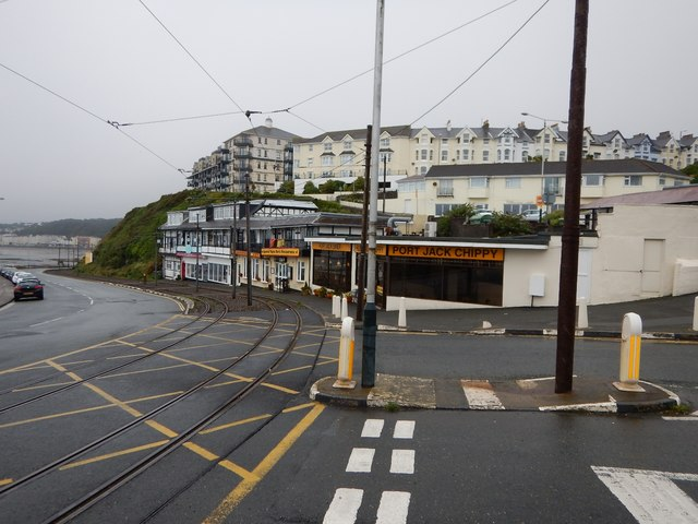 Shops on the A11 at Onchan