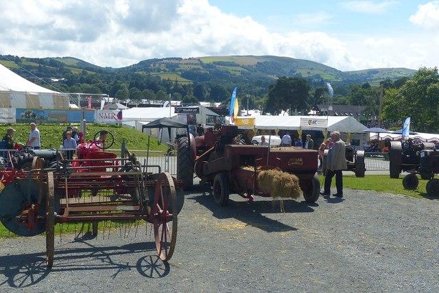 Vintage farm machinery, Royal Welsh Show