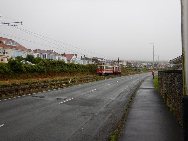 Onchan - Electric Railway next to Housing Estate
