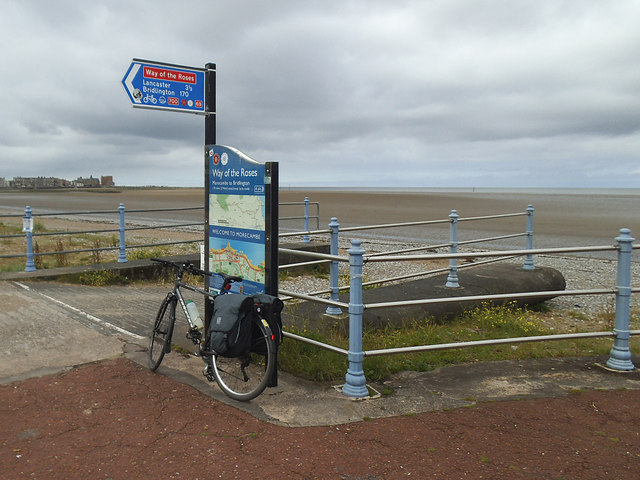 Start of the Way of the Roses at Morecambe