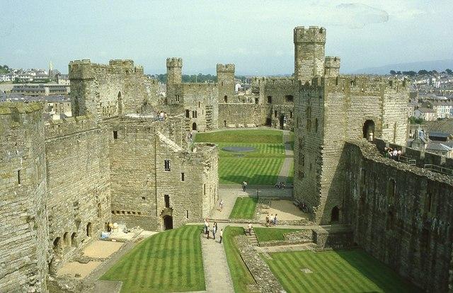 Inside Caernarfon Castle