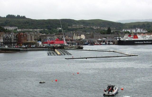 New pontoon berthing at Oban Harbour