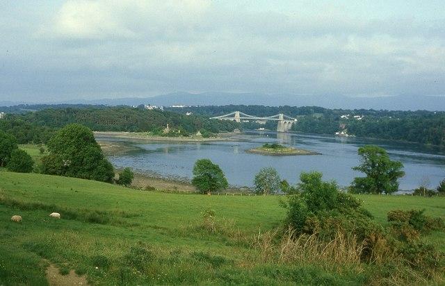 Menai Strait and Suspension Bridge