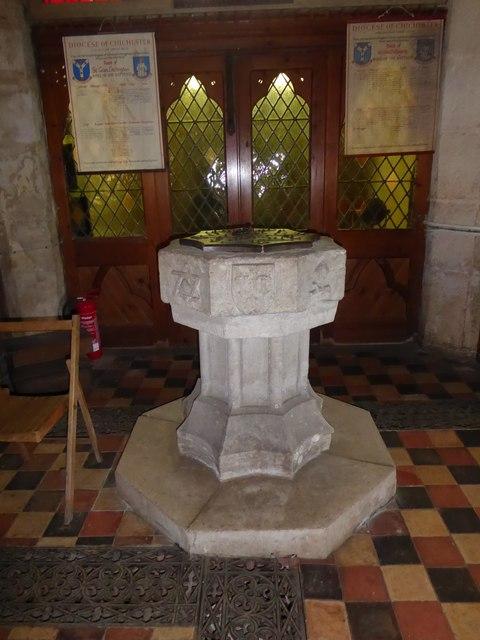 St Giles, Dallington: font