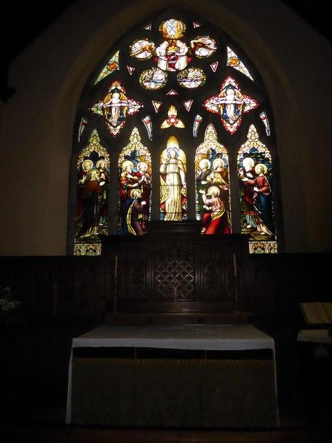St Giles, Dallington: altar