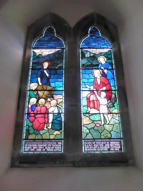 St Giles, Dallington: stained glass window (ii)