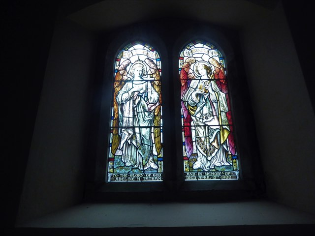 St Giles, Dallington: stained glass window (iv)