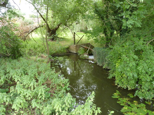 Pond and weir on the Bow Brook