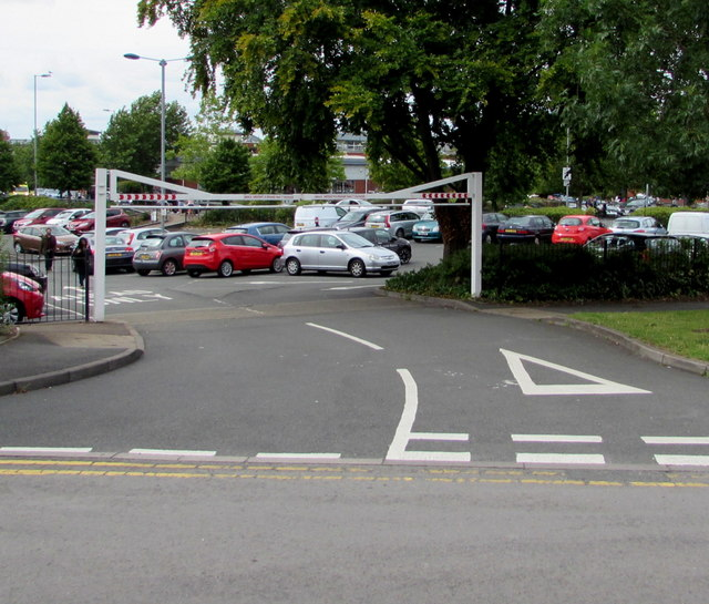 Overhead barrier at a Worcester car park entrance