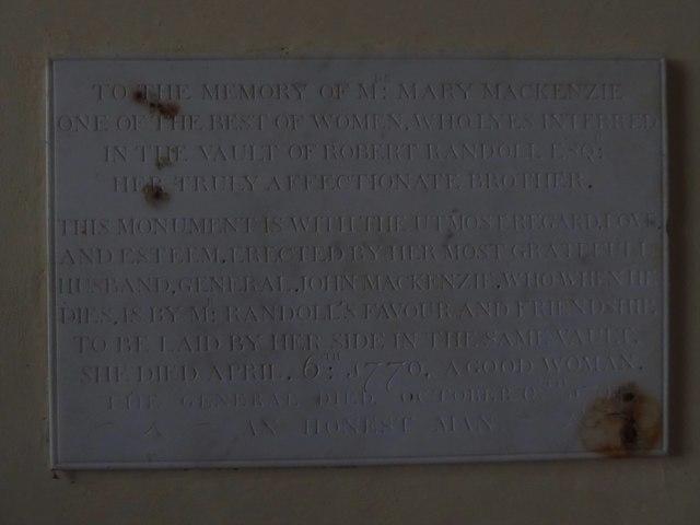 St Giles, Dallington: memorial (ii)