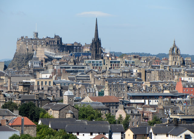View across Edinburgh from The Radical Road
