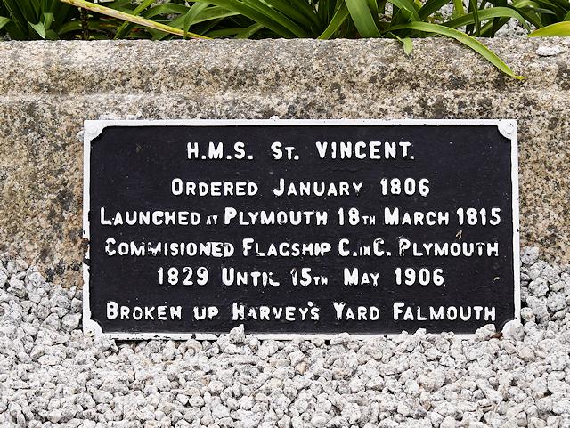 HMS Vincent Plaque