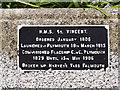SW8132 : HMS Vincent Plaque by David Dixon