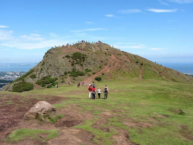 Towards the summit of Arthur's Seat