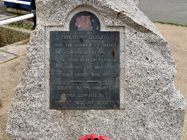 Operation Chariot Plaque