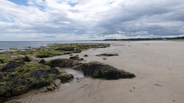 Beach below Nairn Golf Course
