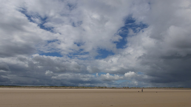 The long sweep of beach leading to Whiteness Head