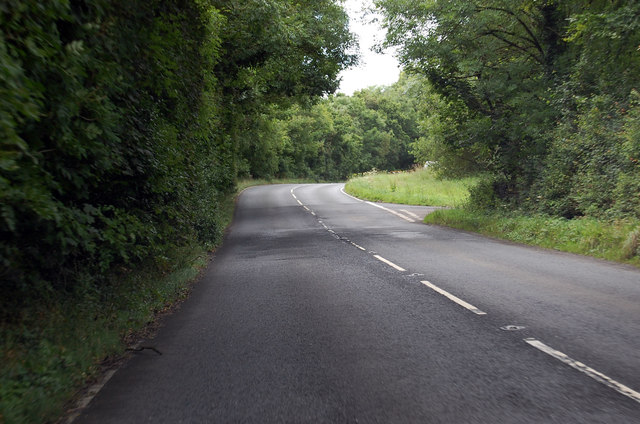 A386 junction with Loxdown Road ahead