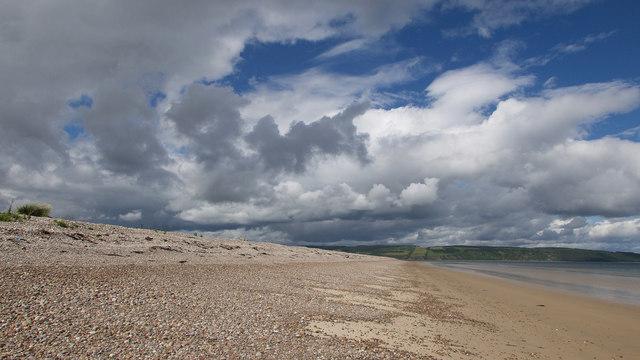 The coast approaching Whiteness Head