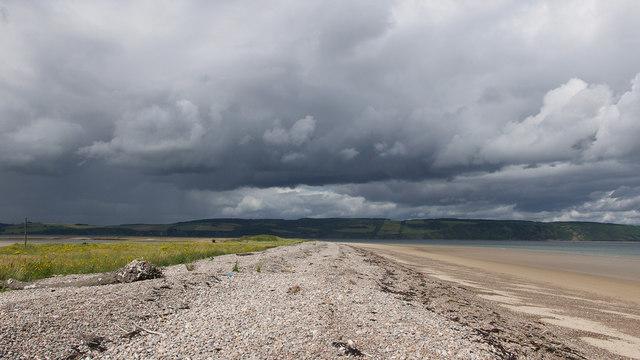 On the eastern beach of Whiteness Head