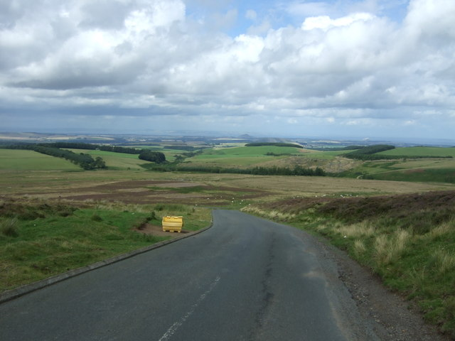 Downhill view on the B6355 towards Gifford