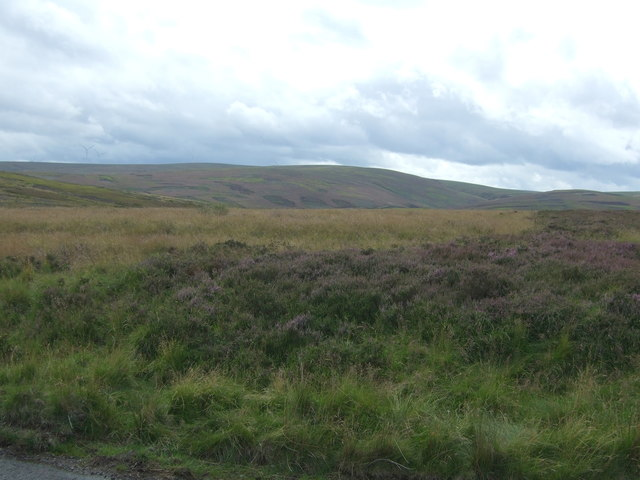 Moorland beside the B6355