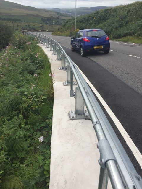 Road Barrier on A4063