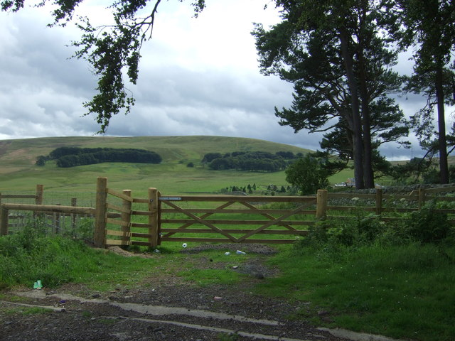 Field entrance off the B6355 near Mayshiel