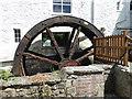SX7189 : Mill End Hotel - water wheel by Chris Allen