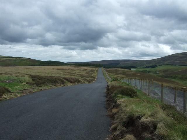 B6355 approaching Whiteadder Reservoir