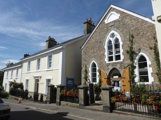 Mill Street and former chapel, Chagford