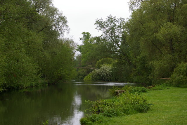 Looking down the Cherwell to the High Bridge, University Parks, Oxford
