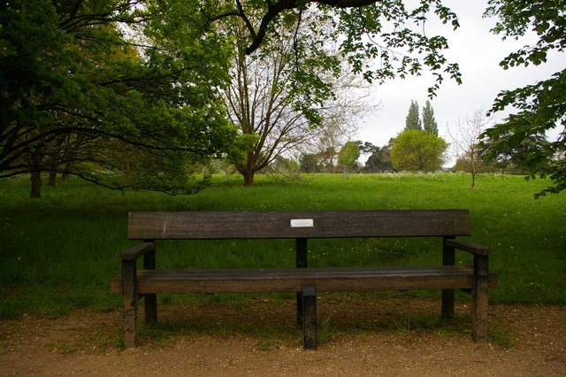 J.R.R. Tolkien memorial bench, University Parks, Oxford