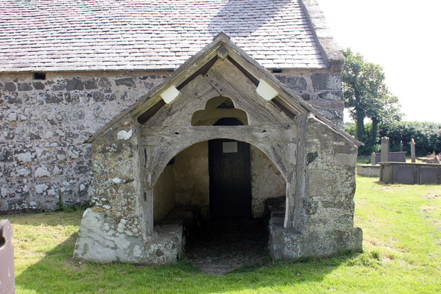 The porch of St Baglan's Church