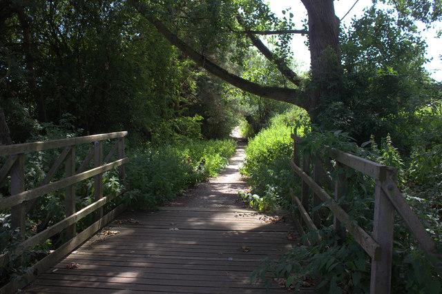Bridge on cycle route 21 near Chilmead Farm