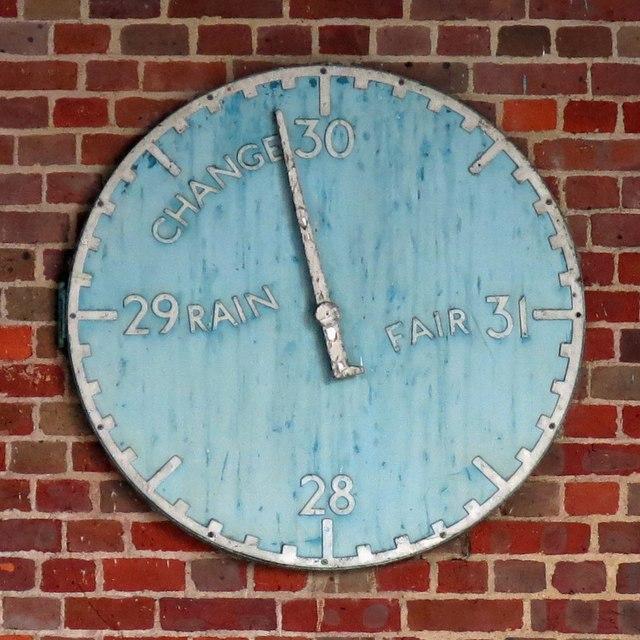 Sudbury Town tube station - barometer