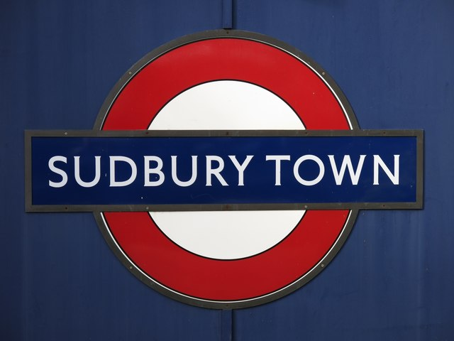 Sudbury Town tube station - roundel