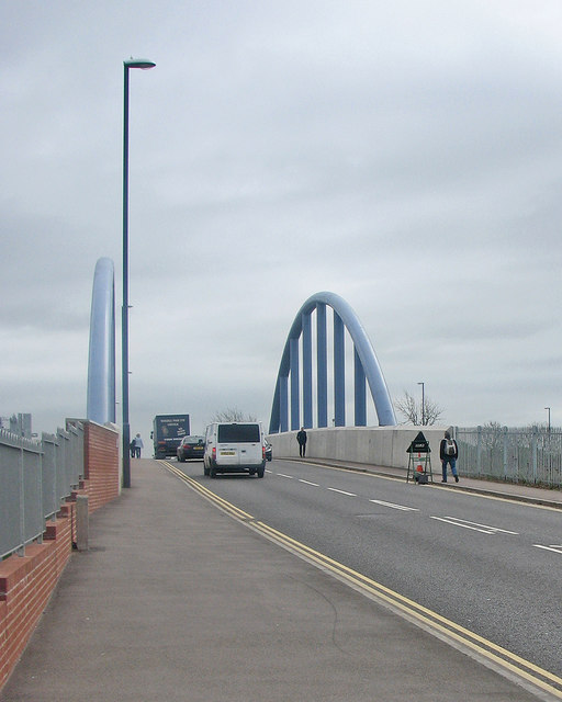 Derby: the new London Road Bridge
