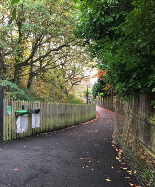 Footpath southeast from Solihull station subway, southwest end