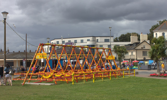 Swings on Exmouth seafront